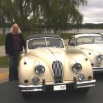 Robyn and her XK120